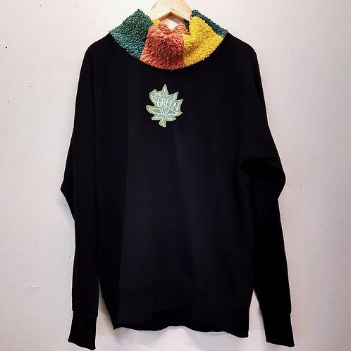 i love mushrooms cotton sweater XL