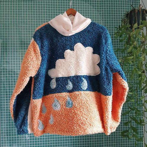 rainy days fluffy organic jumper L/XL