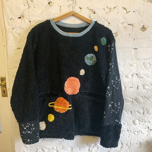 solar system organic fluffy jumper