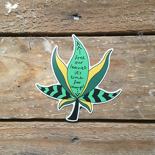free our leaves sticker