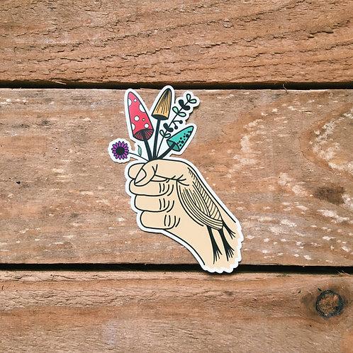 shroom grab sticker