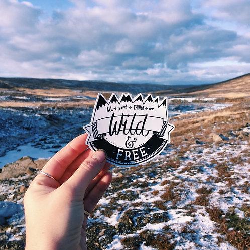 wild n free sticker