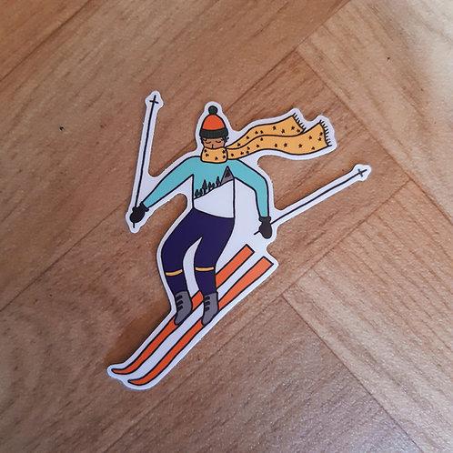 wee skiier dude sticker