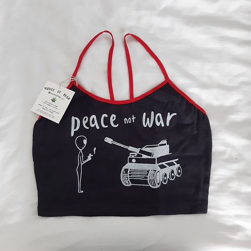 peace not war hemp yoga top