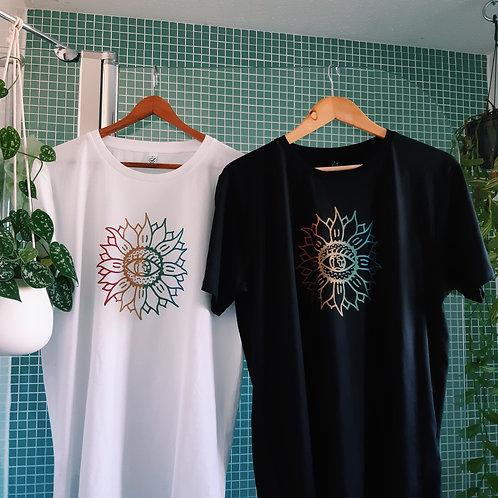 technicolour sunflower organic cotton tee