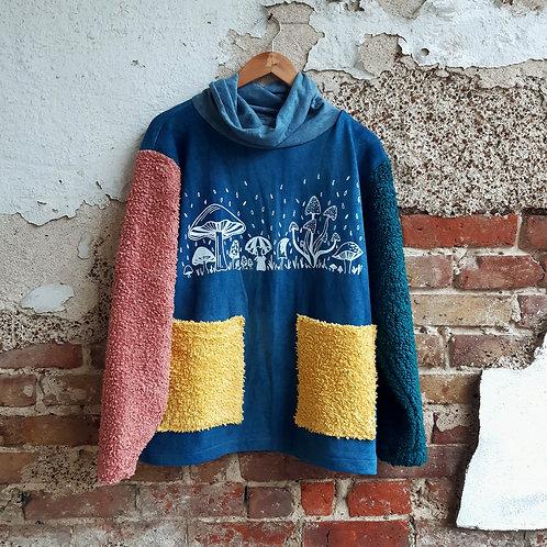 colourblock shrooms organic fluffy jumper