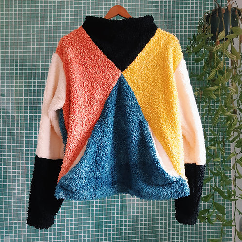join the circus fluffy organic jumper M