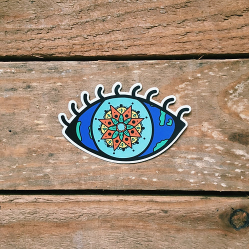 mandala eye sticker