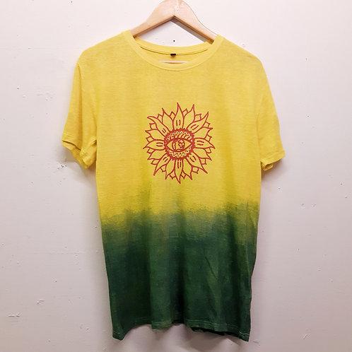 rasta sunflower pure hemp t shirt S