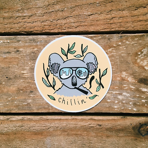 chillin' koala sticker