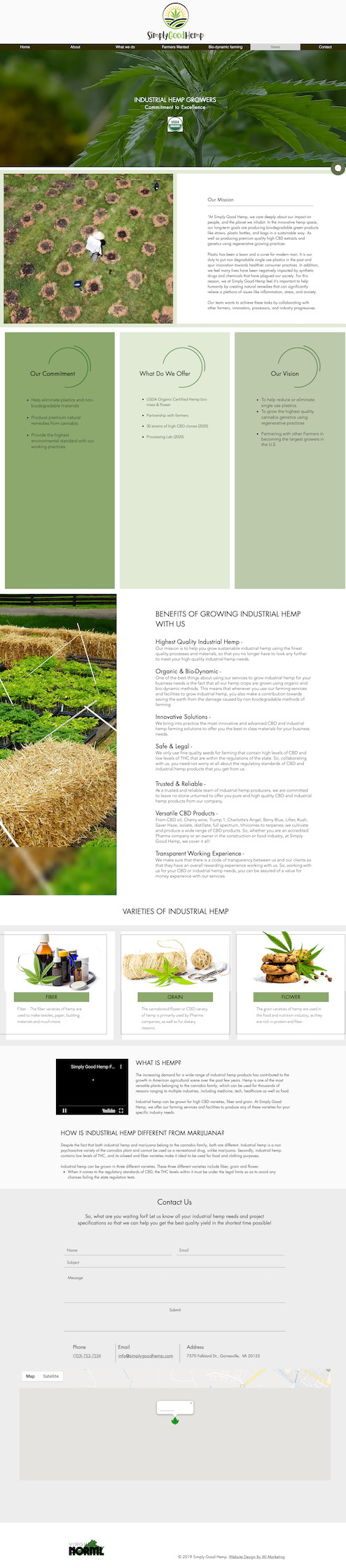New Website Design for Simply Good Hemp