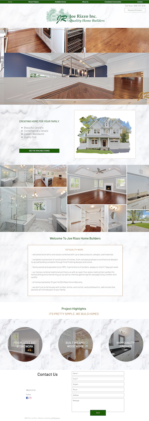 New Website Design for Joe Rizzo Inc.