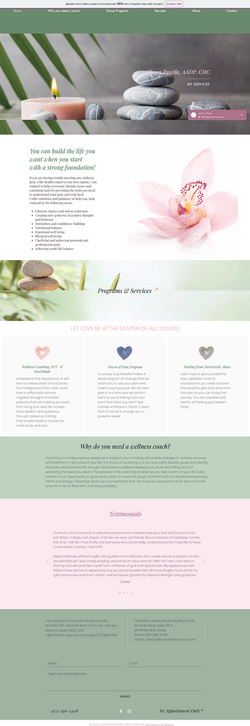 Website Design For A Life/Health Coach
