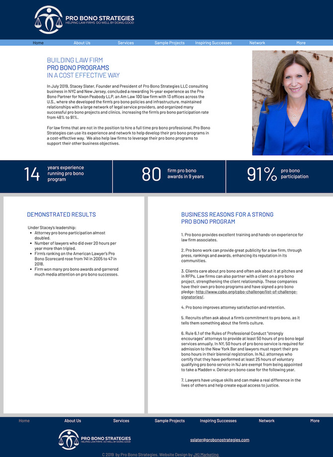 New Website Design for Pro Bono Strategies
