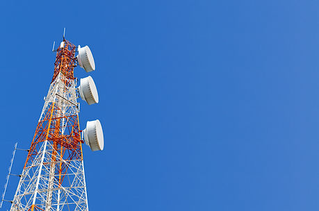 telecommunication-tower-on-blue-sky-back