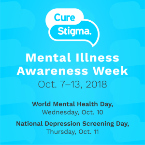 Mental Illness Awareness Week: October 7 – 13, 2018