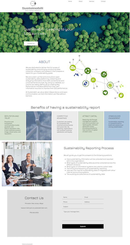 Web design for Sustainabilii in NJ