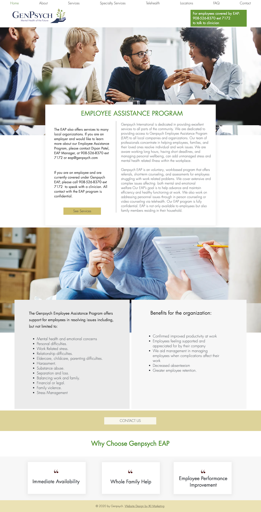 Web design for GenPsych in NJ