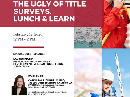 THE GOOD. THE BAD. THE UGLY OF TITLE SURVEYS. LUNCH & LEARN