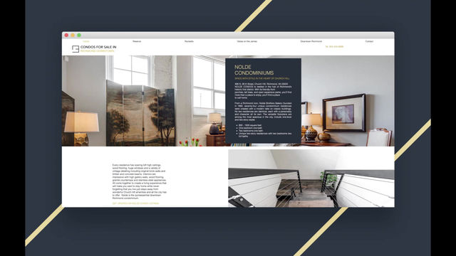 New website design for Downtown Condominiums in Richmond, Virginia