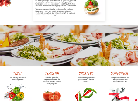 New Website Design for Twin Cities Catering