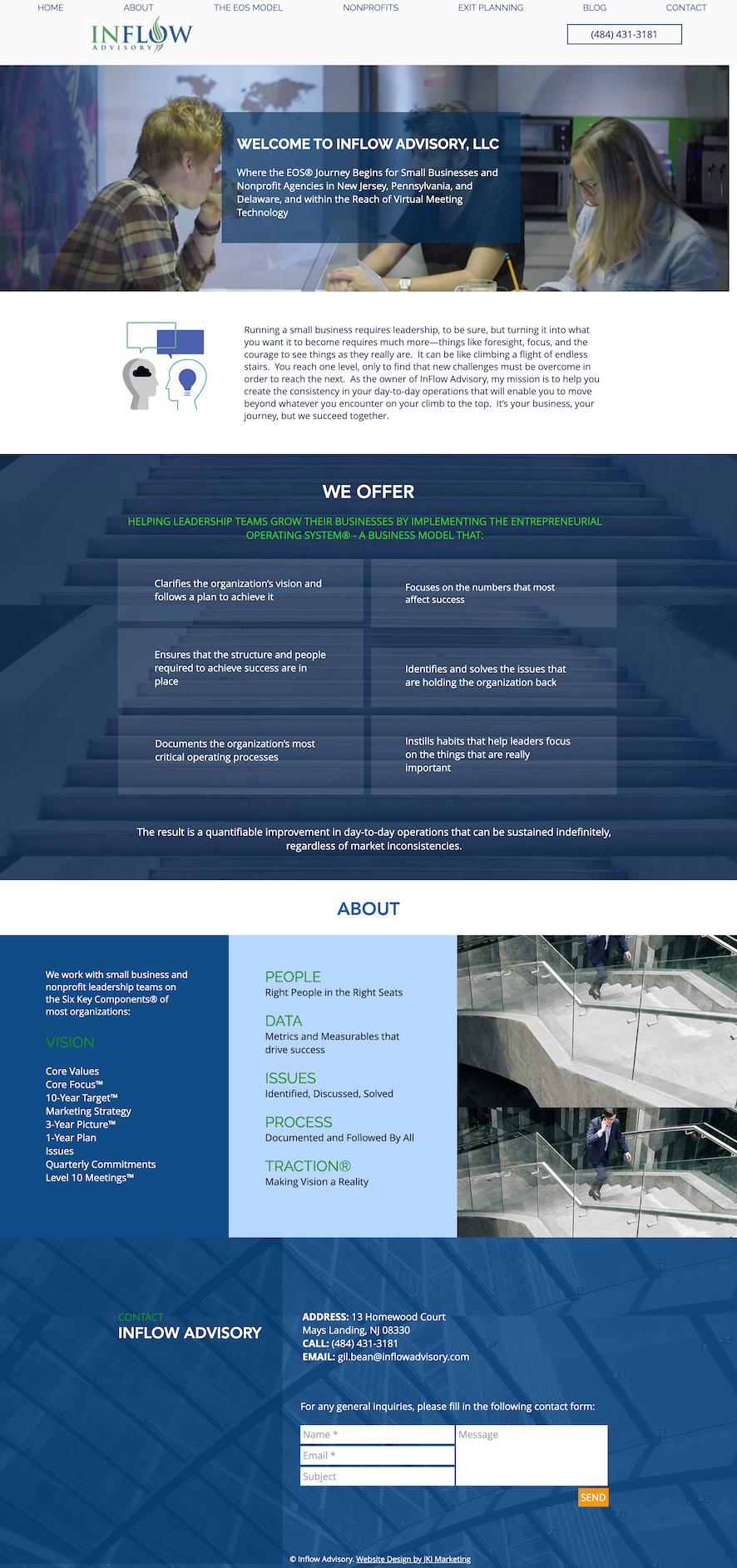 Web design for Inflow Advisory, LLC in NJ
