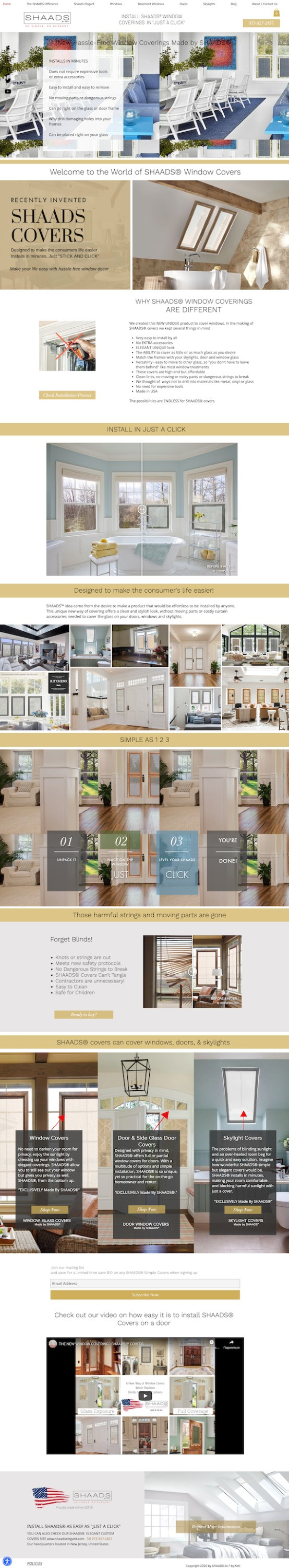 Web design for Shaads in NJ