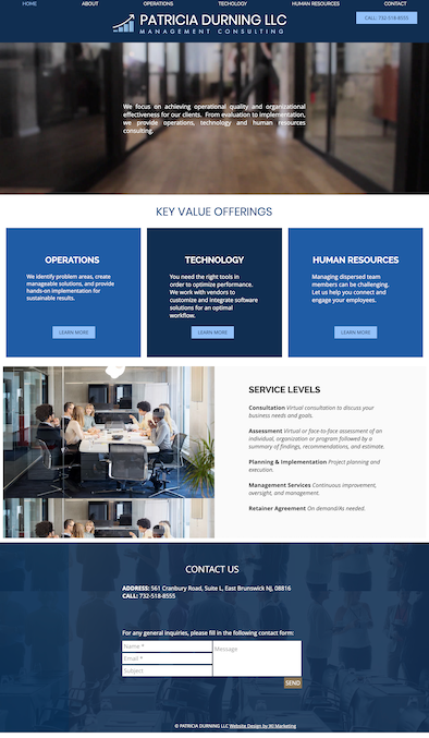 Website design for Management Consulting company in New Jersey