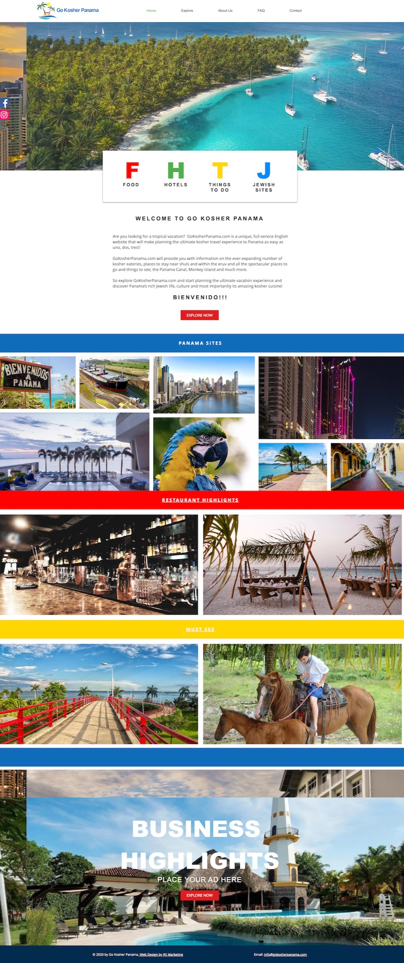 Website For Go Cosher Panama