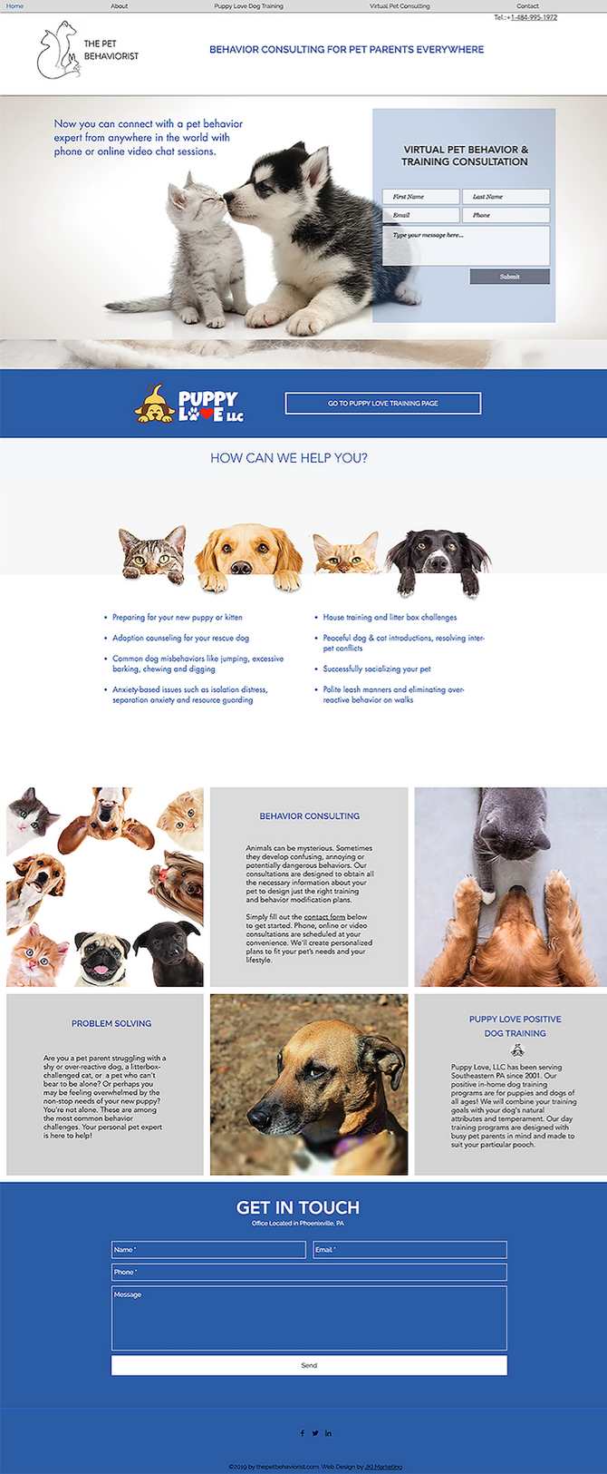 New Website Design for The Pet Behaviorist