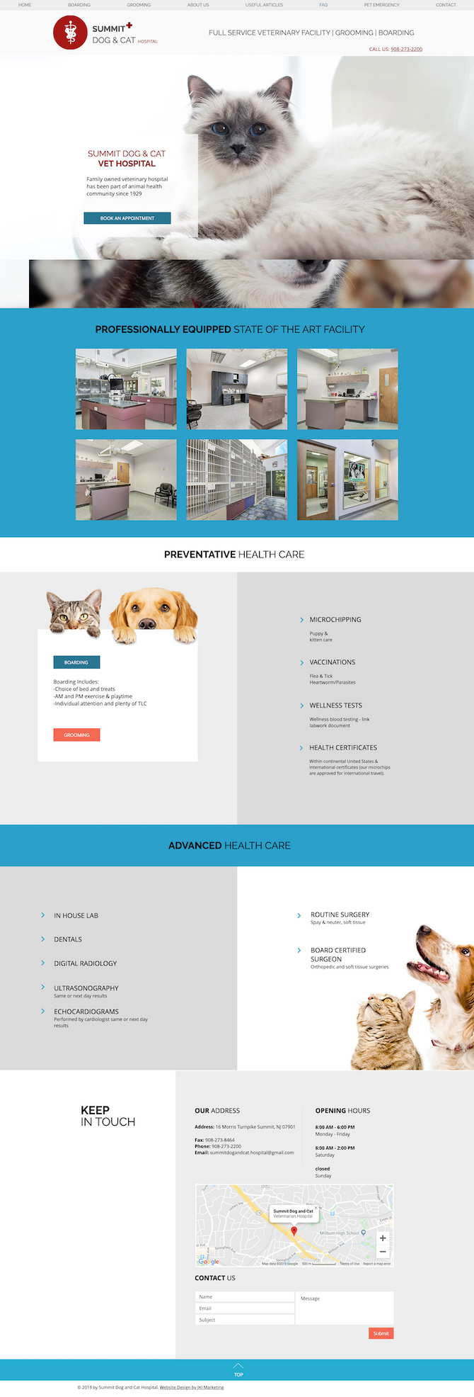New Website Design for Summit Dog & Cat Hospital