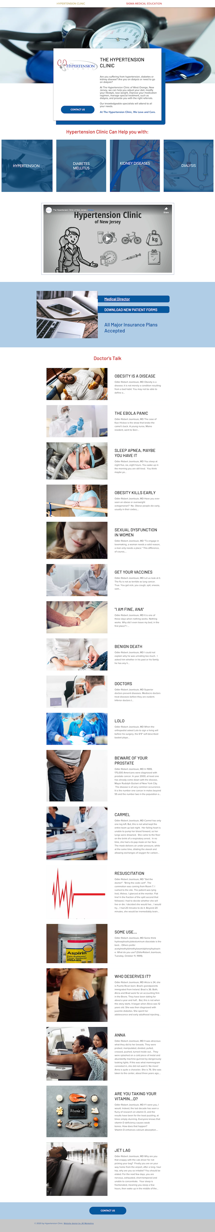 Website Design For The Hypertension Clinic