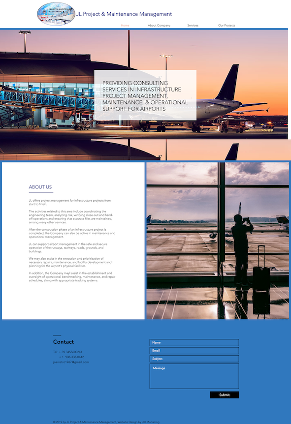 Website design for a consulting company in New Jersey