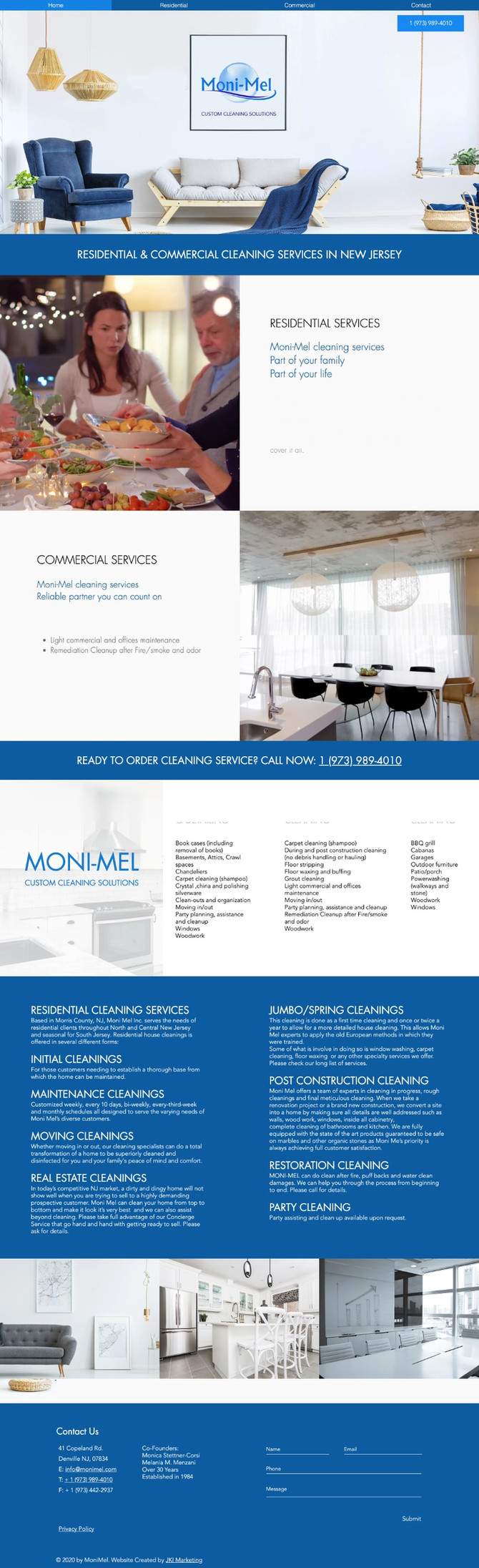 New Website Design for MoniMel