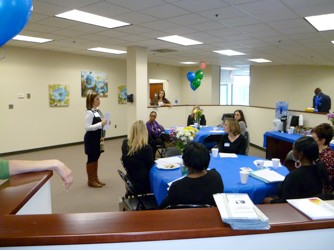 GenPsych Livingston's on-staff Dialectical Behavior Therapy (DBT) Coordinator, Carly DeCotiis, lectured open house attendees about GenPsych's unique partial care and intensive outpatient DBT services that center on task/skill-based DBT therapy and offer patients a 24-hour DBT hotline if help is needed outside the program.