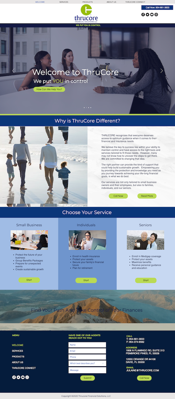 Website design for a financial advisor in New Jersey