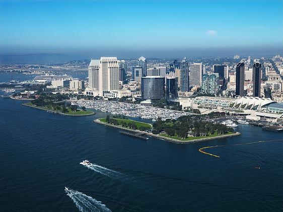 Skyline of vibrant San Diego