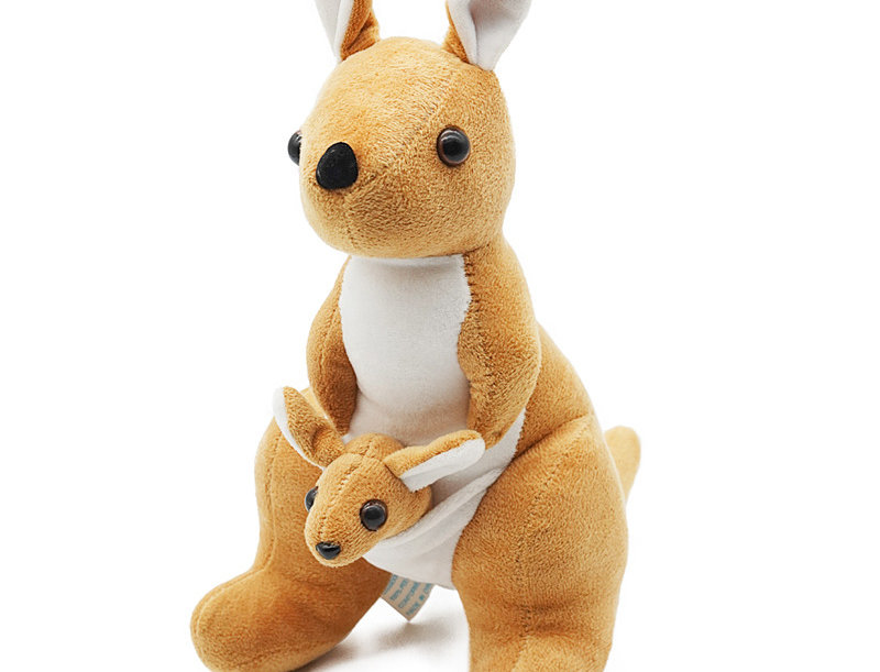 Kangaroo Mom and Baby Plush Toy