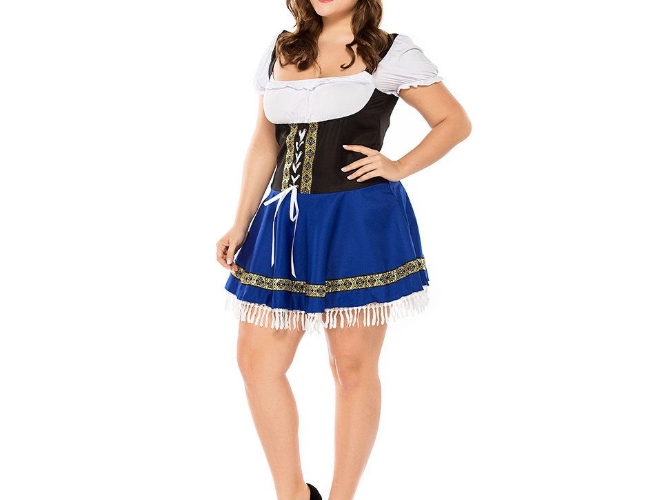 Traditional Bavarian Oktoberfest Costume For Women - Plus Size
