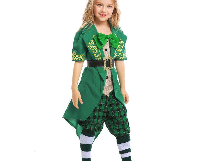 St. Patrick's Day Charming Leprechaun Costume For Girls