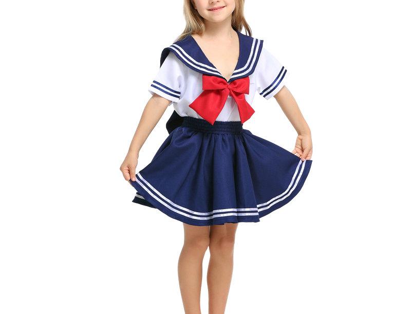 Japanese Sailor High School Uniform Costume For Girls