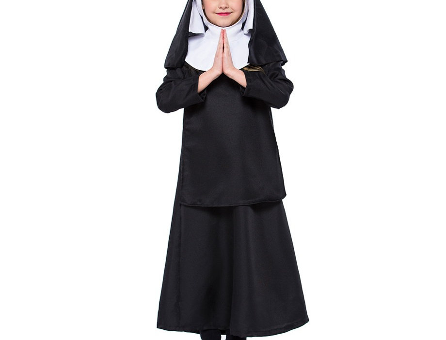 Classic Nun Costume For Girls