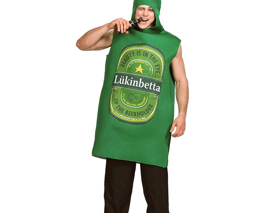 Lukinbetta Green Beer Bottle Adult Unisex Costume