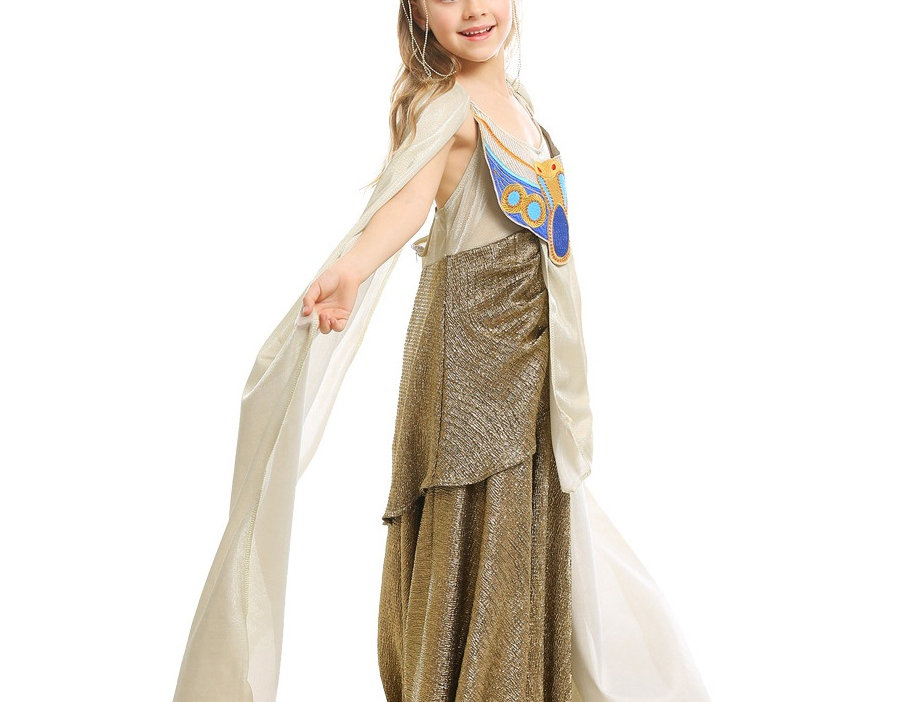 Majestic Queen Cleopatra Costume For Girls