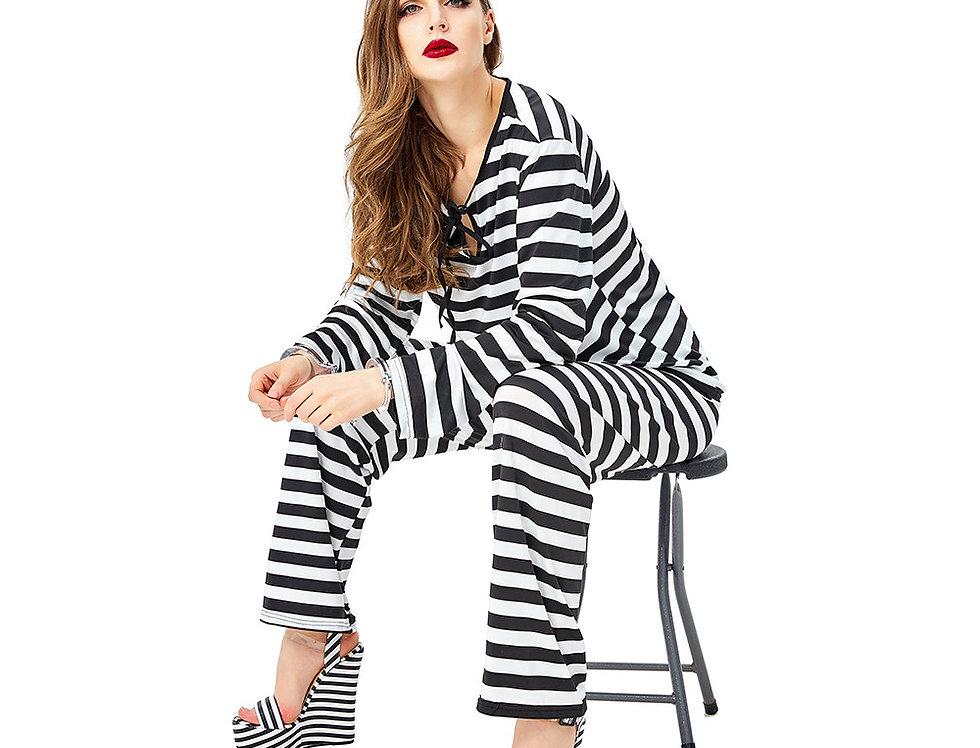 Lawbreaker Prisoner Costume For Women