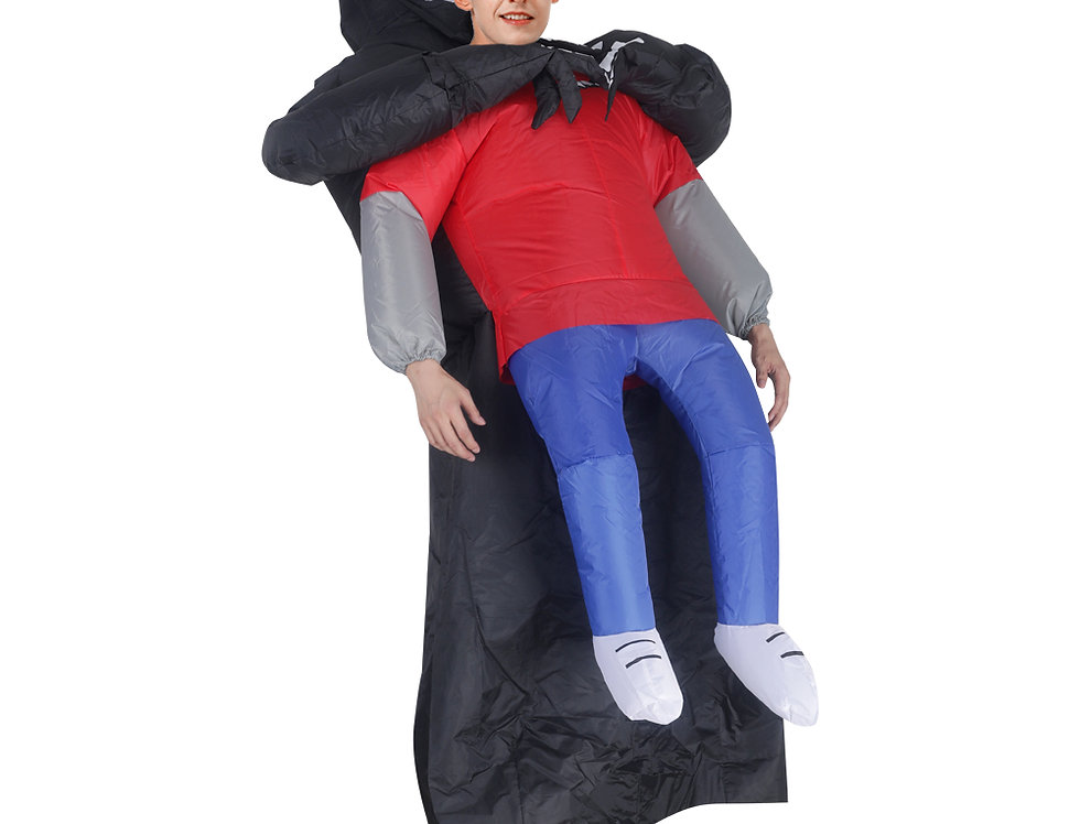 Hugging Grim Reaper Adult Inflatable Ride-On Costume