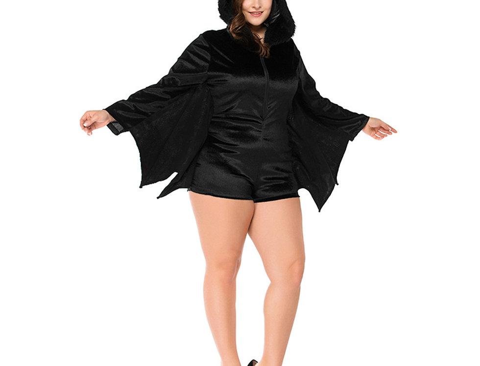 Fuzzy Bat Costume For Women - Plus Size