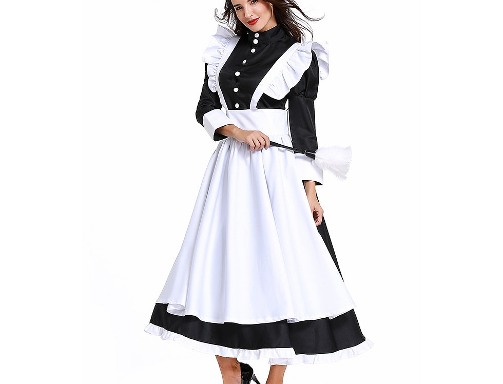 Classic British Maid Costume For Women