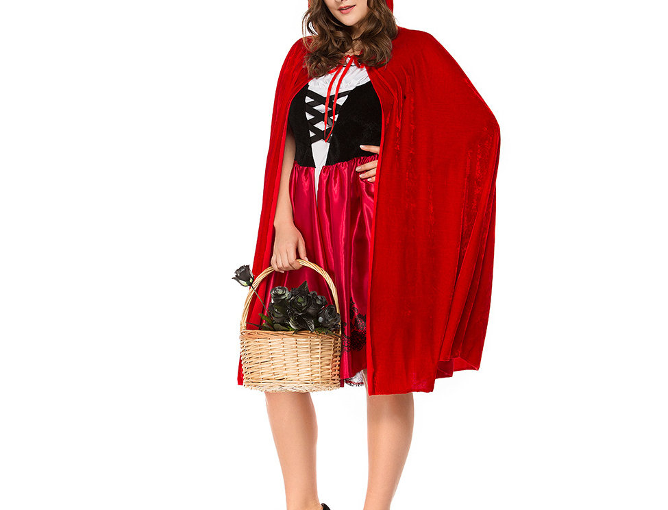 Classic Little Red Riding Hood Costume For Women - Plus Size