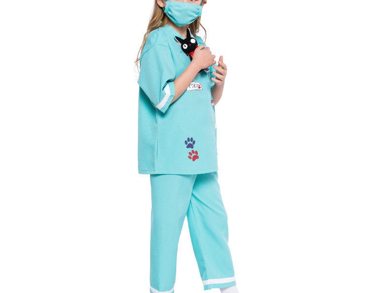 Pet Lovers Vet Kids Costume For Girls - Minty